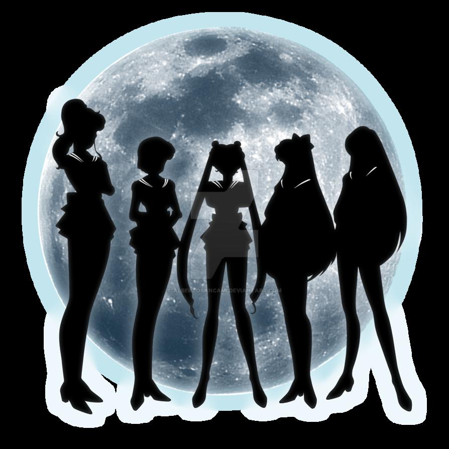 Sailor Moon Silhouettes By Albertosancami Deviantart Com On Deviantart Moon Silhouette Sailor Moon Sailor Moon Art