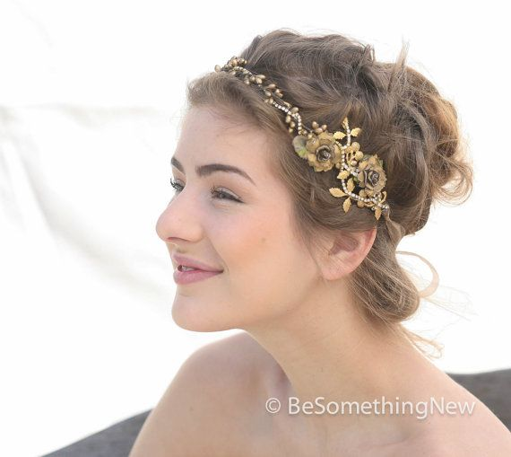 Hey, I found this really awesome Etsy listing at https://www.etsy.com/ca/listing/169770372/wedding-woodland-golden-bridal-hair