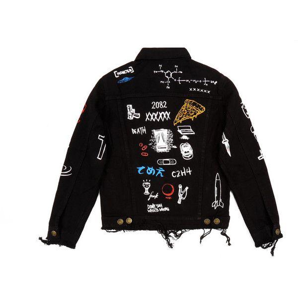 custom black denim vest