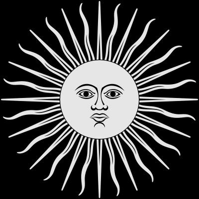 Inca Sun God Symbol