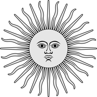 Inca Sun Sun Of May It Is One Of The National Emblems Of