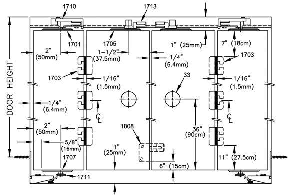 Johnson Hardware® 1700 BI FOLDING DOOR HARDWARE