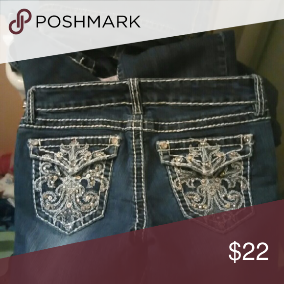 Miss Chic jeans. Good condition.  Smoke free home.  One rhinestone missing on back pocket. miss chic Jeans Skinny