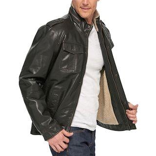 Men S Levi S 174 Sherpa Lined Faux Leather Trucker Jacket