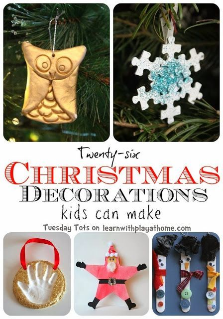 26 Christmas Decorations kids can make Pinterest Decoration