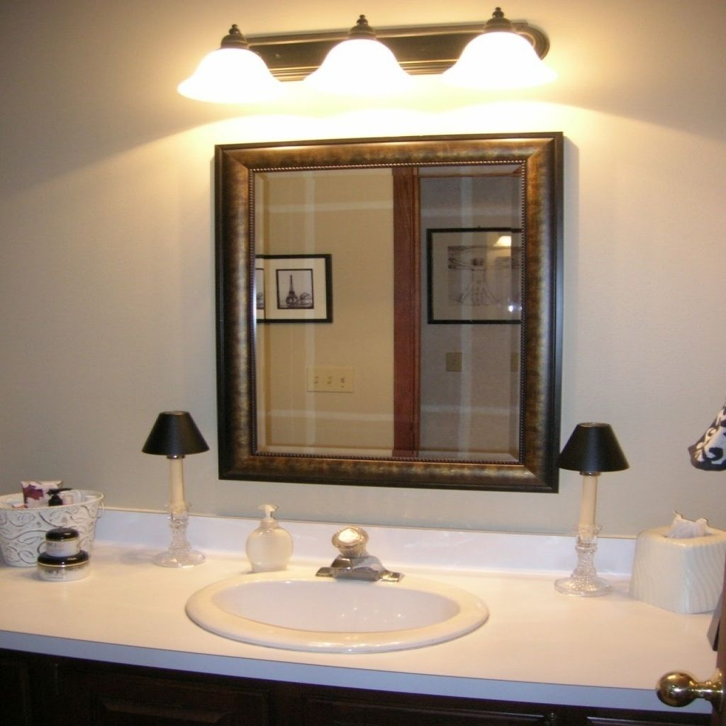 bathroom mirrors and lighting ideas | Dining Room Table Decoration ...