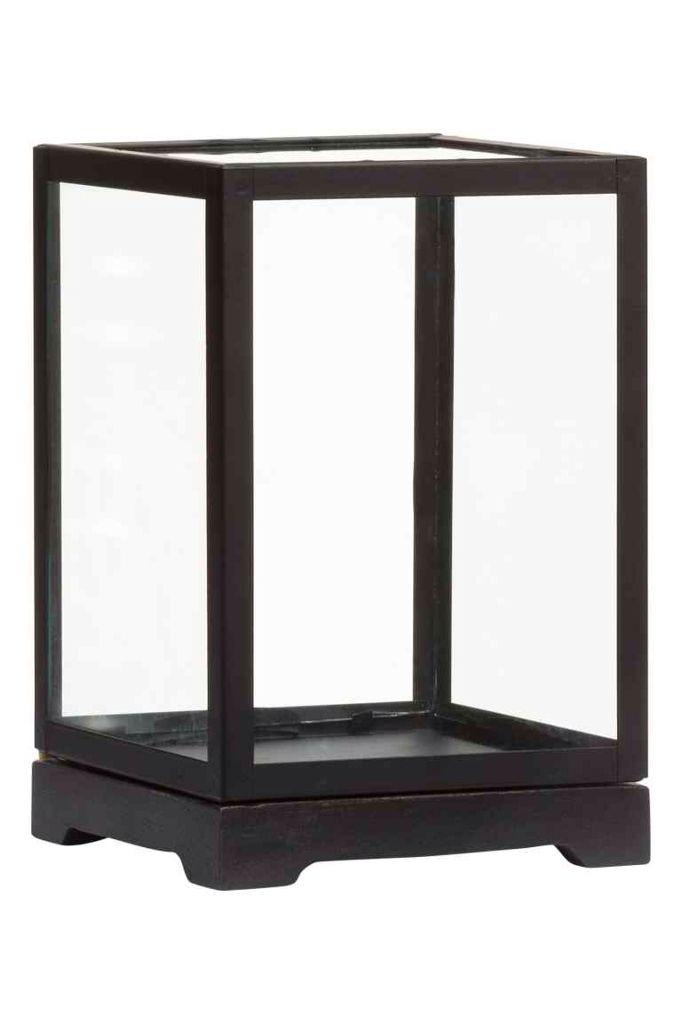 Kleine Glazen Vitrinekastjes.Glazen Vitrinekastje H M Home 19 99 Houten Vitrine Kastjes