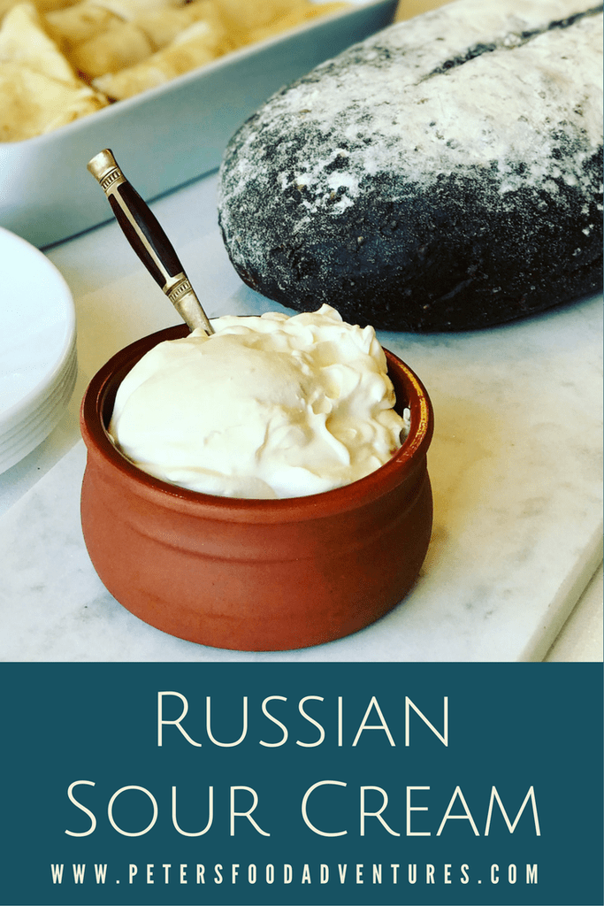 Homemade Sour Cream Easy To Make Authentic No Thickeners And Full Of Probiotics These Are S Homemade Sour Cream Homemade Sour Cream Recipe Russian Recipes