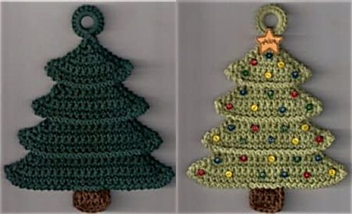 Christmas Tree Potholder Crochet Christmas Trees Christmas Crochet Christmas Potholders