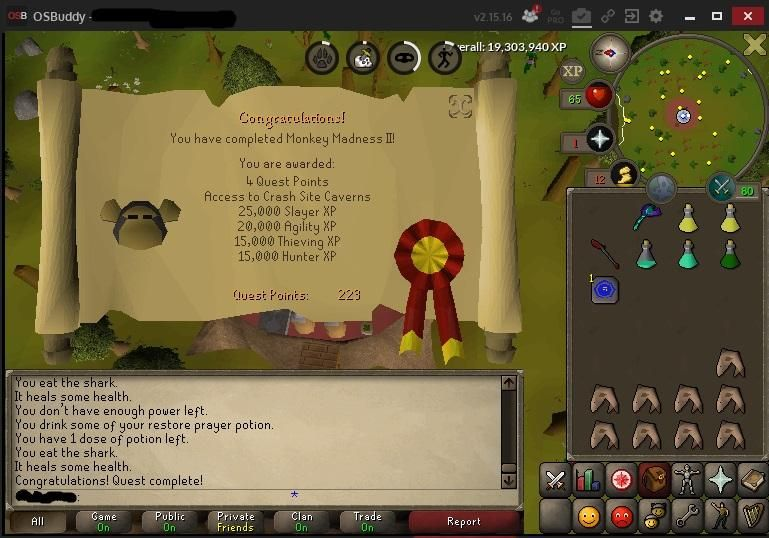 Finally finished Monkey Madness II after spending 3 hours on the platform and dying to Glough 2 times.