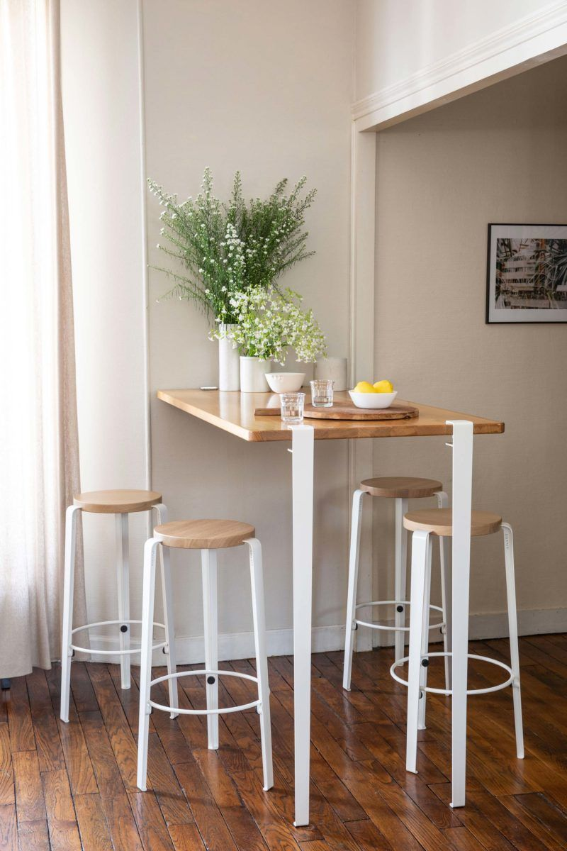 Table Mange Debout 17 Modeles Pour Tabourets De Bar Home Decor
