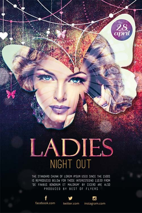 Ladies Night Out Free Flyer Template  HttpFreepsdflyerCom