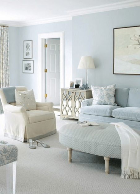 20 Choosing Paint To Increase Space Perception Blue Walls Living Room Light Blue Living Room Paint Colors For Living Room