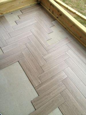 Faux wood tile herringbone for porch q   aHerringbone  floor  tile   basement   Pinterest   Herringbone  . Faux Wood Tile Herringbone Pattern. Home Design Ideas