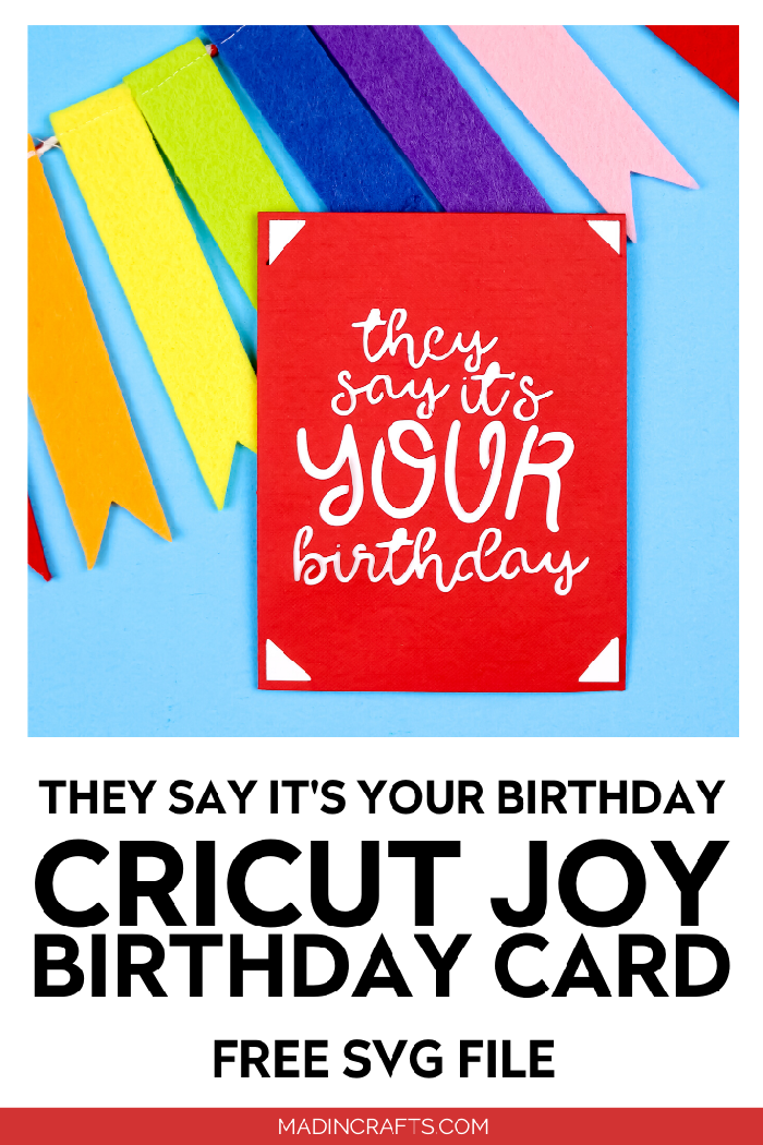 FREE CRICUT JOY BIRTHDAY CARD SVG Crafts Mad in Crafts in