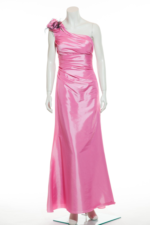 Langes Abiballkleid in leuchtendem Metallic Pink. Aus der Bella ...