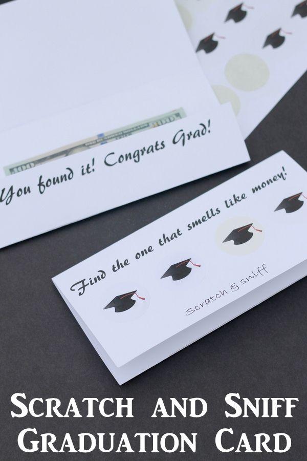 Scratch and Sniff Graduation Card Gift Idea | Graduation cards ...