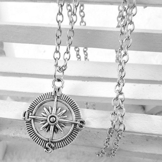 Compass Necklace Bff Gift Friendship Necklace by ThePeapodShop