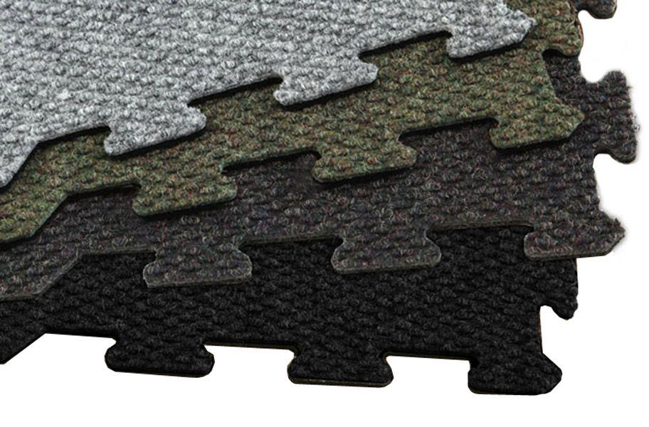 8mm Interlocking Rubber Carpet Tiles Durable Comfortable Commercial Grade Floor