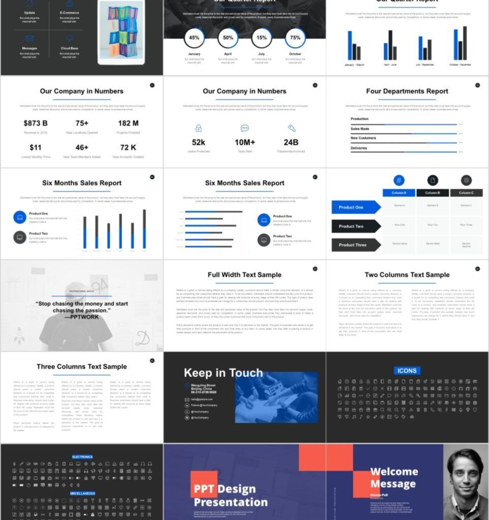30+ Best Project Timeline Charts PowerPoint Template In