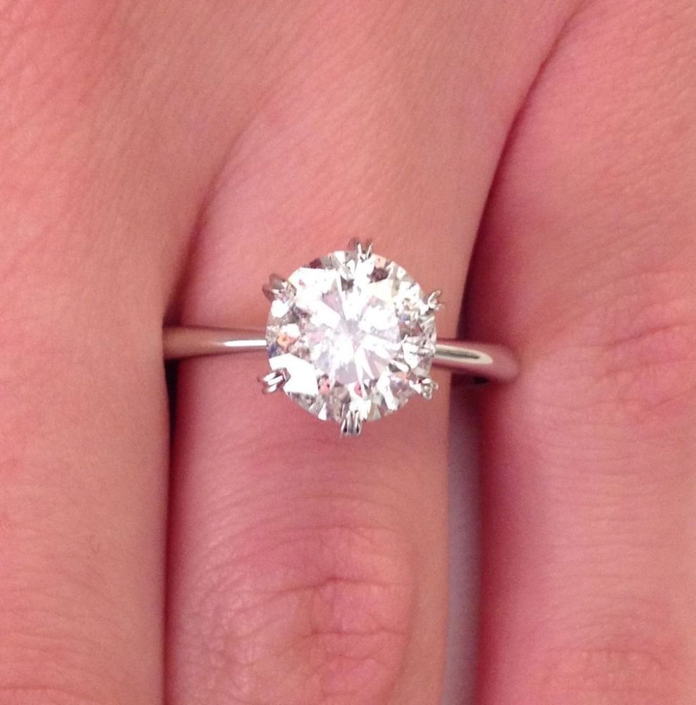 18 Ct Gold Diamond Ring 1Ct Diamond Solitaire Ring Engagement Ring ...