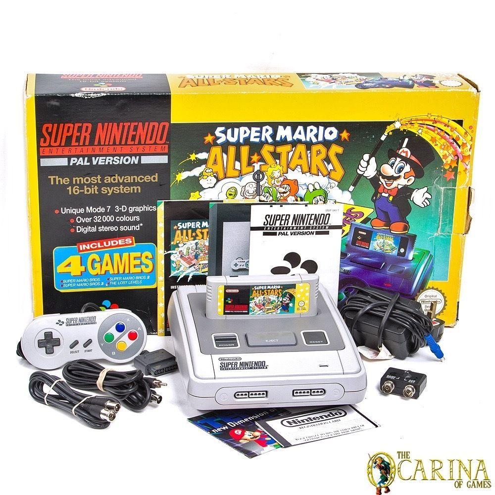 Super Nintendo SNES Super Mario All Stars Console Bundle