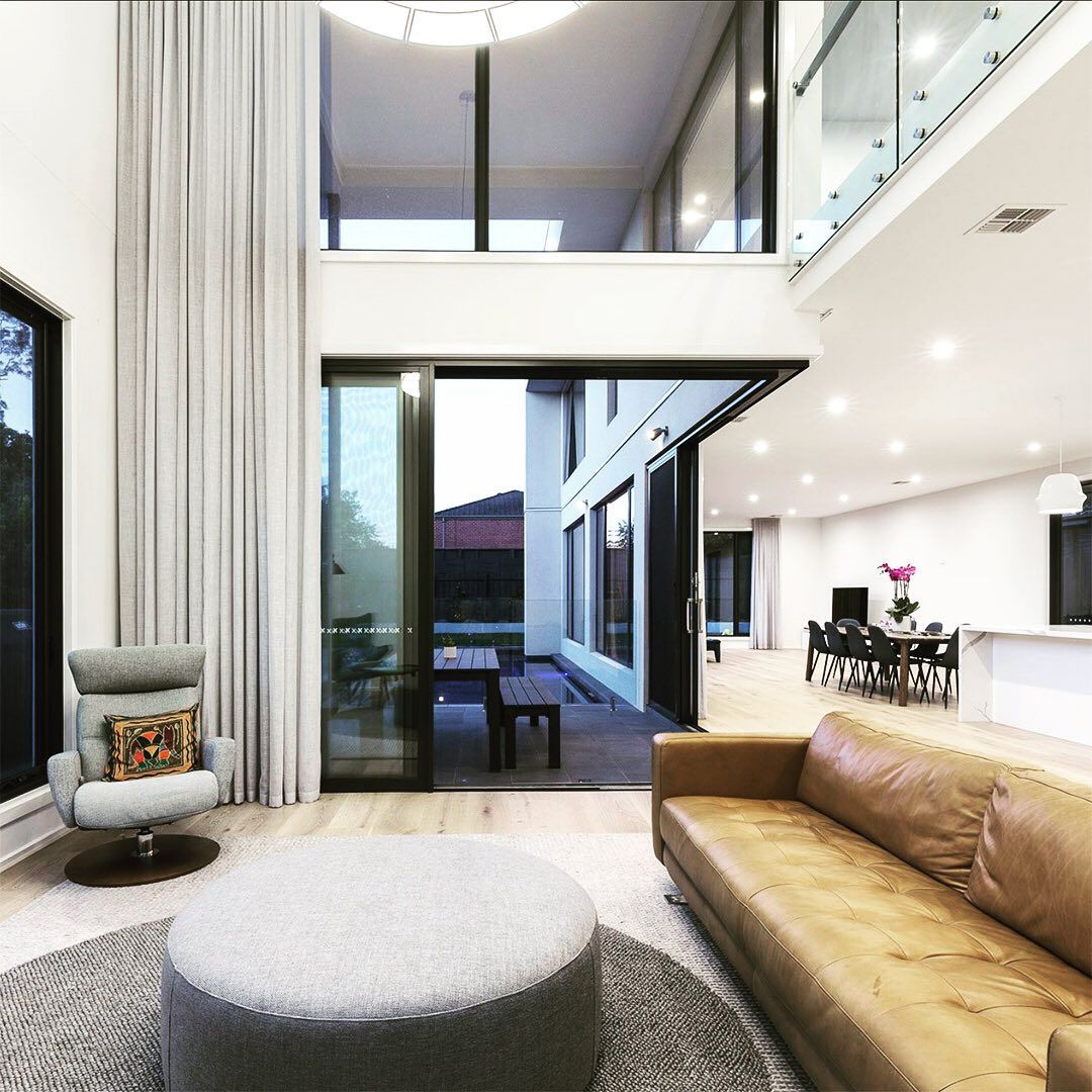 House Floor Plans On Instagram A Double Height Void In The Family Living Room Adds A Sense Of Grandeur A Family Living Rooms House Flooring House Floor Plans