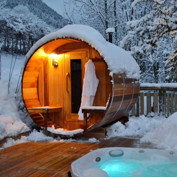 Costco Dundalk 6 Person Western Red Cedar Barrel Sauna