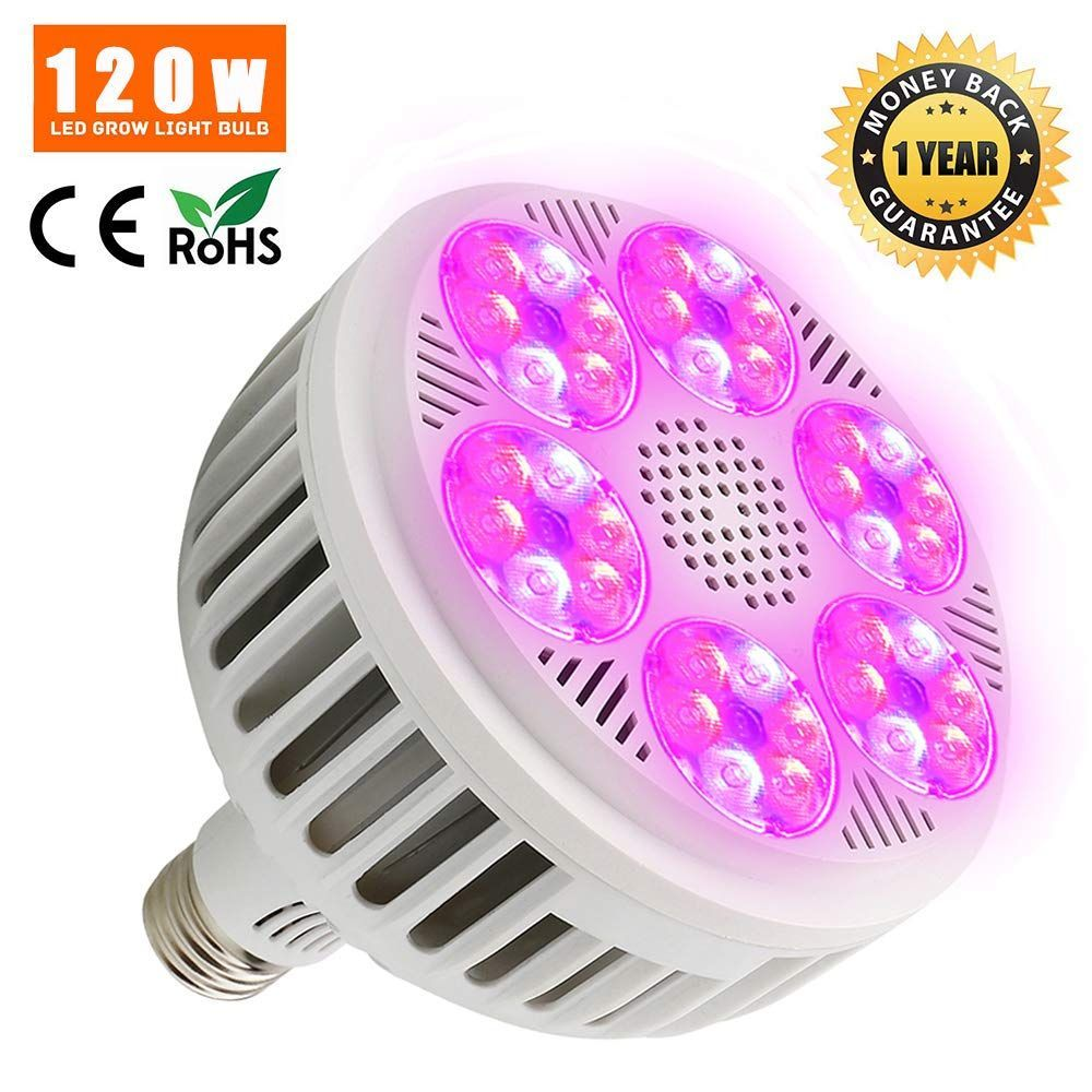 New Updated 120w Led Grow Light Bulb Derlights Full Spectrum Grow Lights For Indoor Plants Garden Hydroponics Greenhouse V In 2020 Led Grow Light Bulbs Grow Light Bulbs