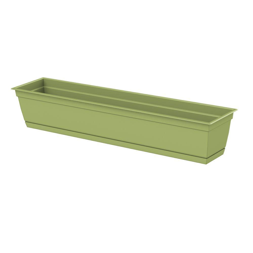 Dayton 36 0 In X 6 70 In Green Plastic Window Box 486367 1001