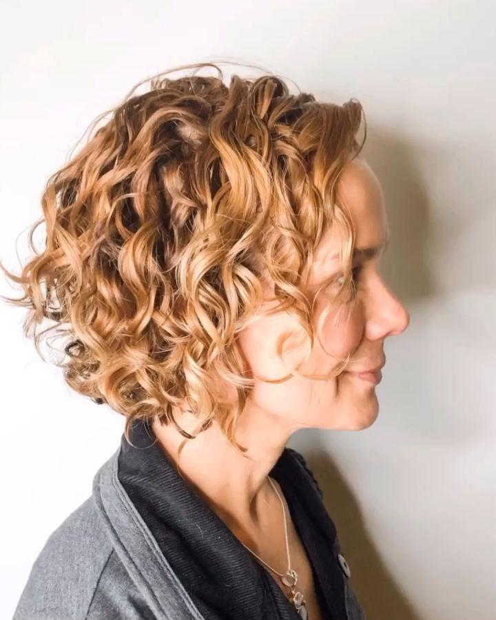 Short Naturally Curly Bob by Carleen Sanchez