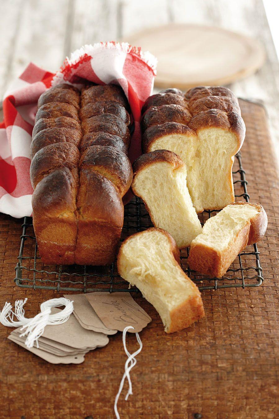 Dis 'n tradisionele Franse soetbrood met baie botter in