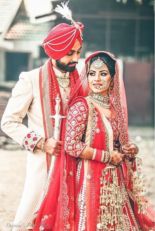 Pin by Sukhman Cheema on Punjabi Royal Brides | Sikh wedding