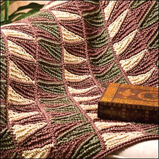 Caron Simply Soft Eco worsted weight yarn, 80% acrylic/20% NatureSpun Post-Consumer Recycled Polyester (5 oz/249 yds/142g per skein): 2 skeins 0017 Spring Moss, 4 skeins 0005 Twig and 2 skeins 0003 Wheat