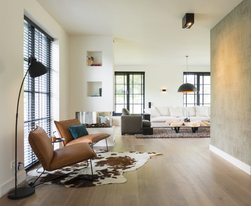 Moderne woonkamer inrichten met luxe meubels  woonkamer