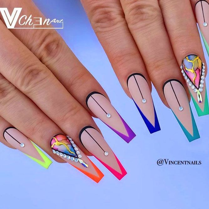 French Tip Nails Ideas To Make Your Busy Life Easier | NailDesignsJournal