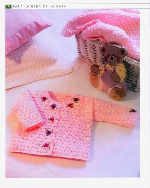 Chaqueta Infantil Bebe Instrucciones - Patrones Crochet | crochet ...
