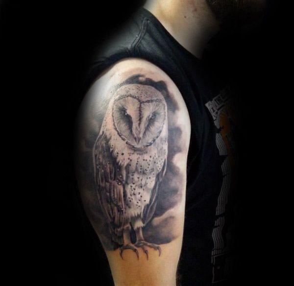 60 Barn Owl Tattoo Designs For Men Lunar Creature Ink Ideas Barn Owl Tattoo Owl Tattoos On Arm Owl Tattoo