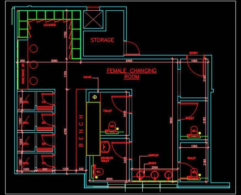 Swimming Pool Changing Room Dwg Layout Plan Pool Changing Rooms Swimming Pools Changing Room
