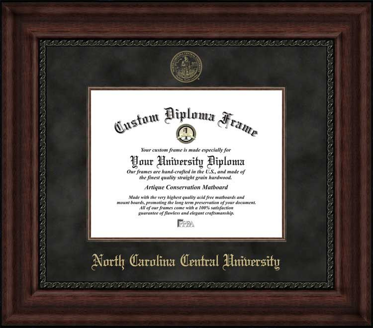 North Carolina Central University Diploma Frame - Embossed Seal ...