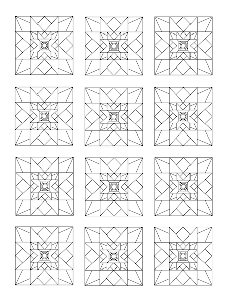 Coloring Book Of Quilt Blocks Designs Coloring Books Quilt Blocks Quilts