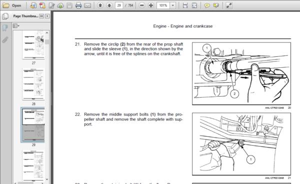 Software 955 Tractor Workshop Repair Service Manual Part Number ...