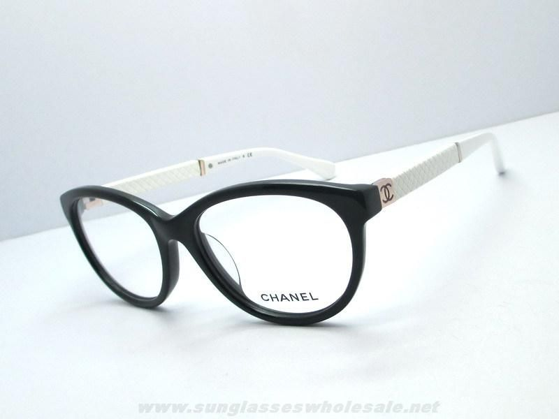 authentic chanel 3229 rectangle black white eyeglasses