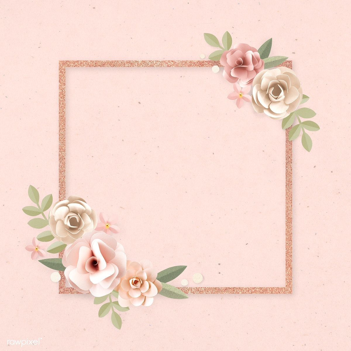 Download free illustration of Square paper craft flower