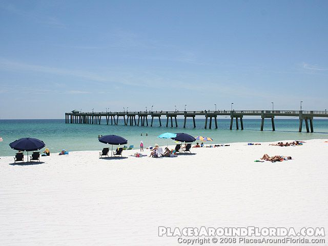 Fort Walton Beach Pier Is Next To The Okaloosa Island Boardwalk