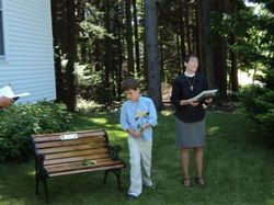 Bench Dedication To Larry and Suzie Rich, Evergreens Memorial Garden