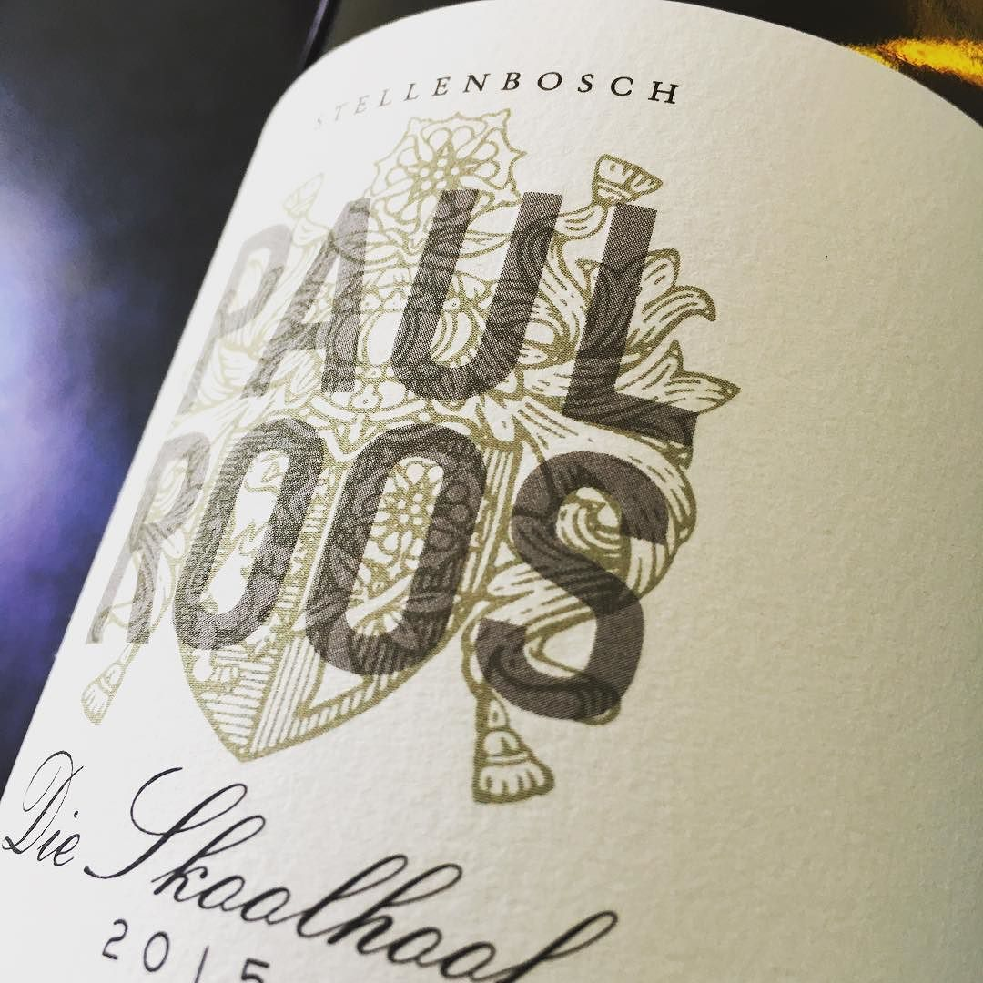 A Paul Roos Wine Label Printed By Vollherbst Etiketten Vollherbst Etiketten Labels Stunning Quality On Cotton White Paper Printing Labels Label Design Labels
