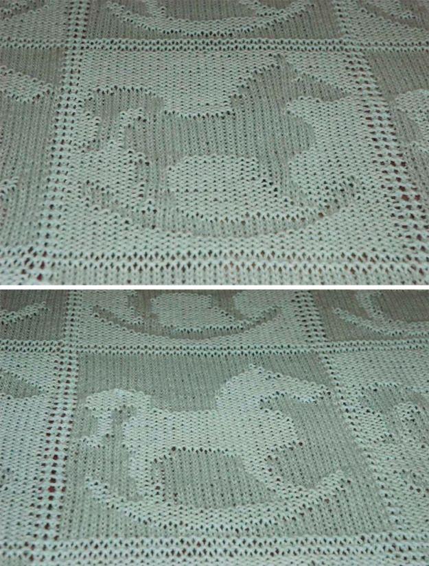 Free Knitting Pattern for Rocking Horse Baby Blanket # ...