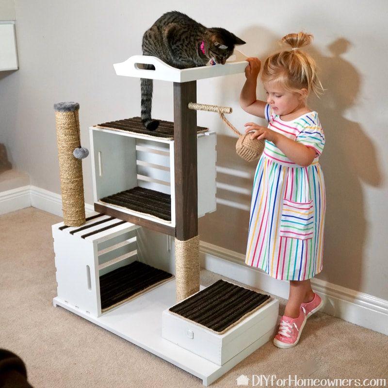 DIY Cat Tower Diy cat tower, Cat tower, Cat condo diy