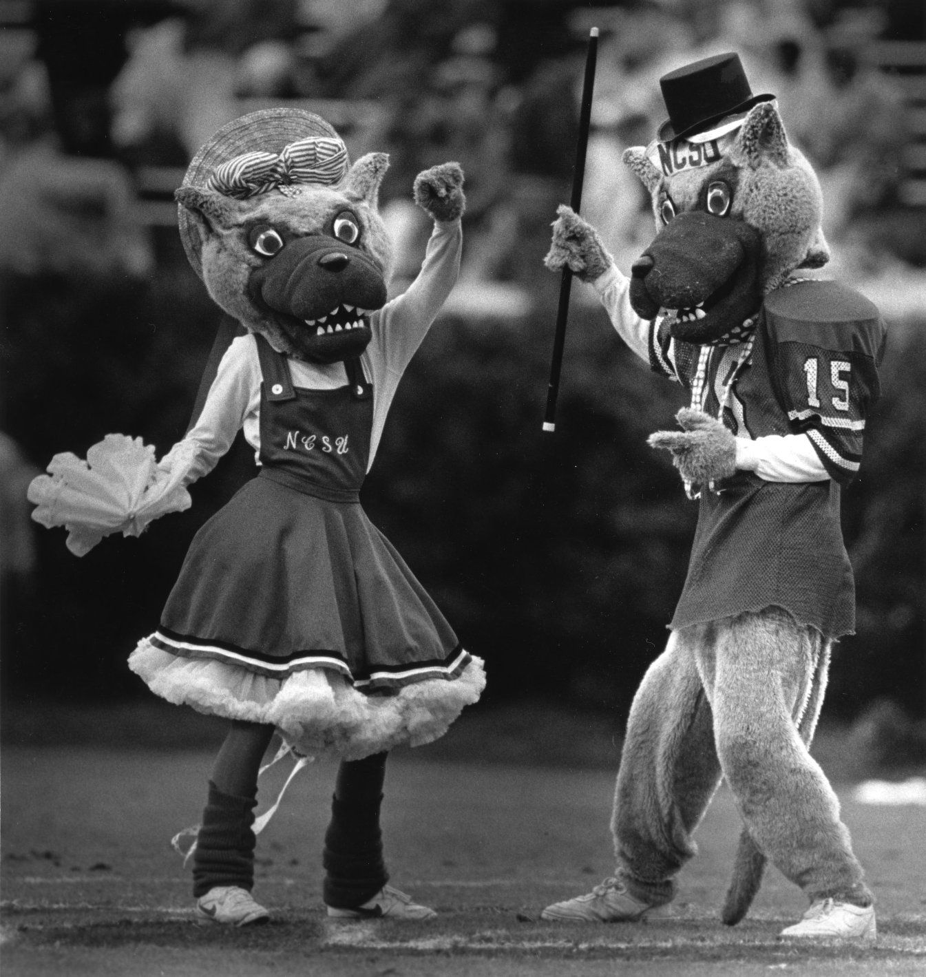 Mr. And Mrs. Wuf Dancing At N.C. State Vs. University Of